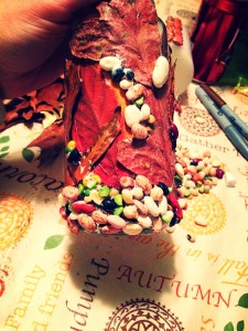 Leaf and bean jar