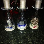 Christmas Wine Glass Candle Craft