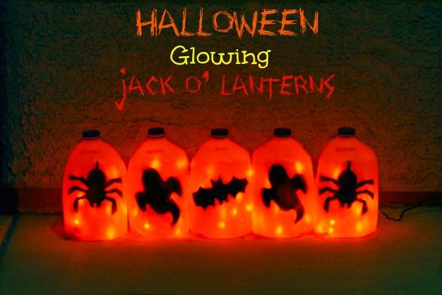 easy halloween milk jug olantern craft